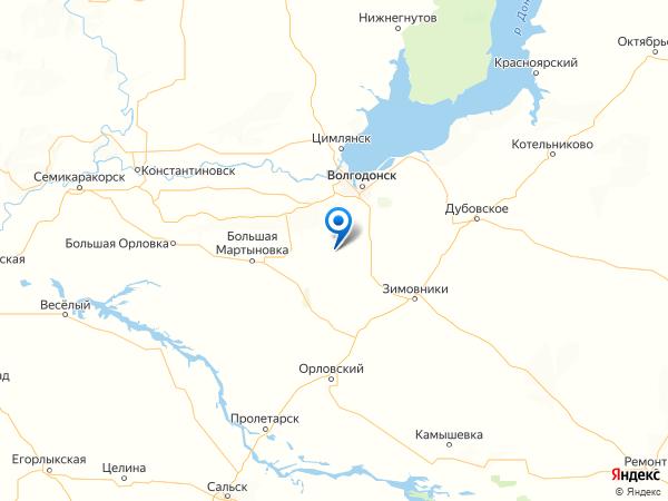 хутор Братский на карте