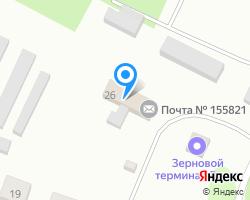 Схема местоположения почтового отделения 155821