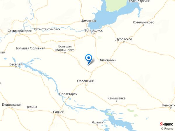хутор Трудовой на карте