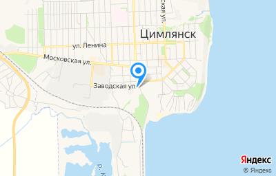 Местоположение на карте пункта техосмотра по адресу Ростовская обл, г Цимлянск, ул Заводская, д 1А