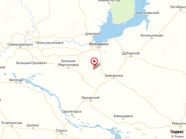 хутор Иловайский на карте