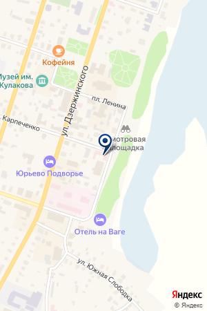 ОТРЯД ГОСУДАРСТВЕННОЙ ПОЖАРНОЙ СЛУЖБЫ № 1 на карте Вельска