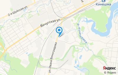Местоположение на карте пункта техосмотра по адресу Ивановская обл, г Кинешма, ул Ивана Виноградова, д 9