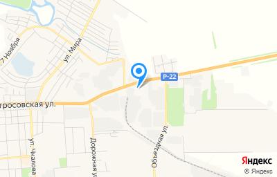 Местоположение на карте пункта техосмотра по адресу Воронежская обл, г Борисоглебск, ул Матросовская, зд 127