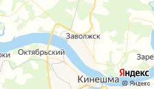 Гостиницы города Заволжск на карте