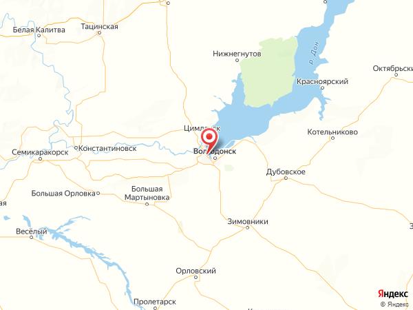 Волгодонск на карте