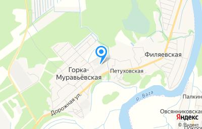 Местоположение на карте пункта техосмотра по адресу Архангельская обл, Вельский р-н, д Петуховская