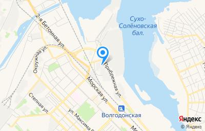 Местоположение на карте пункта техосмотра по адресу Ростовская обл, г Волгодонск, ул Портовая, д 13, пом 1