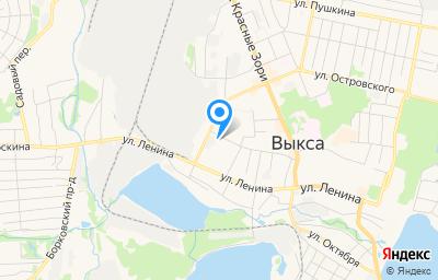 Местоположение на карте пункта техосмотра по адресу Нижегородская обл, г Выкса, ул Корнилова, зд 104