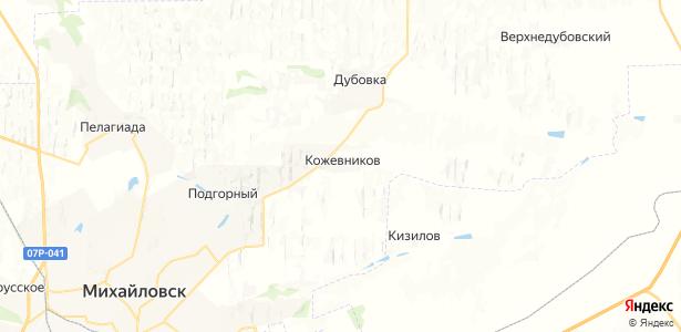 Кожевников на карте