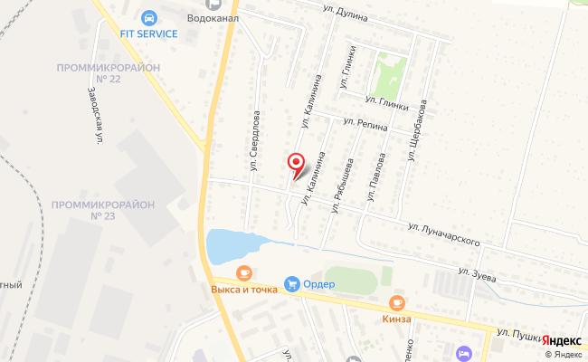 Карта расположения пункта доставки RoutExpress в городе Выкса