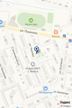 МАГАЗИН СТРОИТЕЛЬНЫХ ТОВАРОВ ПИРАМИДА на карте Выксы