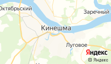 Гостиницы города Кинешма на карте