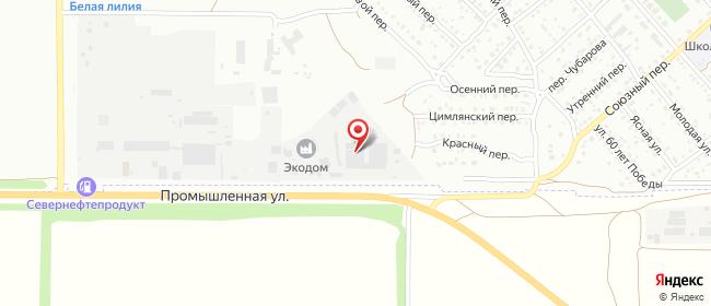 Карта расположения пункта доставки DPD Pickup в городе Волгодонск