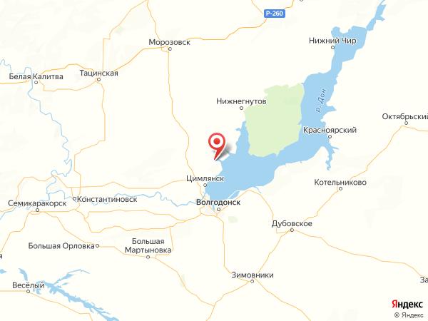 станица Терновская на карте