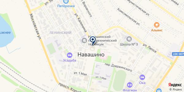 СОЮЗ ПРЕДПРИНИМАТЕЛЕЙ на карте Навашино