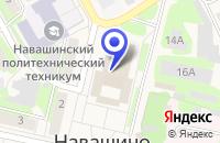 Схема проезда до компании СОЮЗ ПРЕДПРИНИМАТЕЛЕЙ в Навашино