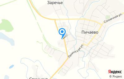 Местоположение на карте пункта техосмотра по адресу Тамбовская обл, с Пичаево, ул Энергетиков, д 17