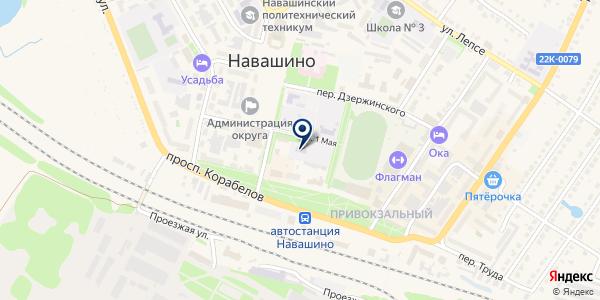 НАВАШИНСКИЙ ДЕТСКИЙ ДОМ на карте Навашино