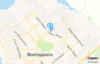Местоположение на карте пункта техосмотра по адресу Ростовская обл, г Волгодонск, пр-кт Мира, д 58
