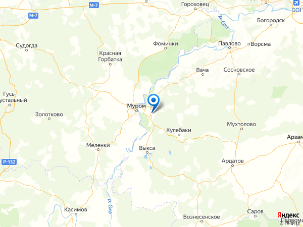 село Большое Окулово на карте