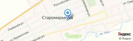 Храм Покрова Божией Матери на карте Старомарьевки