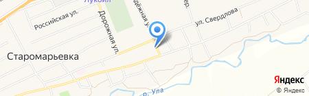 Почтовое отделение на карте Старомарьевки