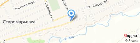 Участковый пункт полиции на карте Старомарьевки