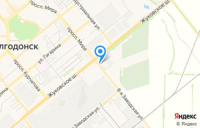 Местоположение на карте пункта техосмотра по адресу Ростовская обл, г Волгодонск, ул 8-я Заводская, д 28