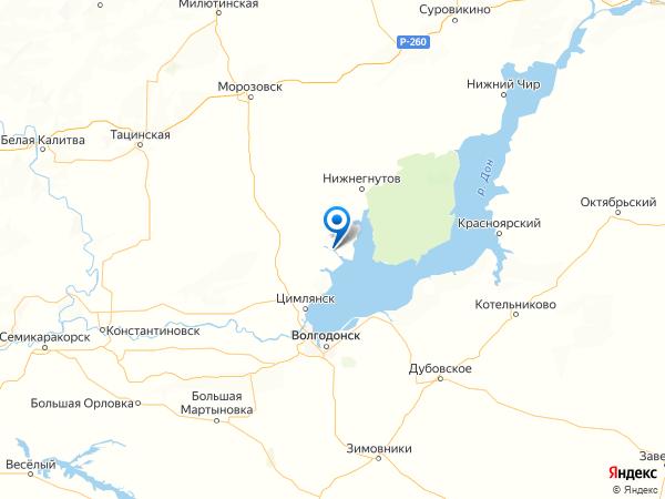 станица Калининская на карте