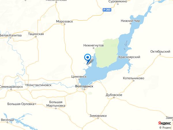 хутор Карнауховский на карте