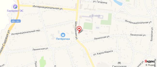 Карта расположения пункта доставки Билайн в городе Уварово
