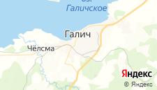 Отели города Галич на карте