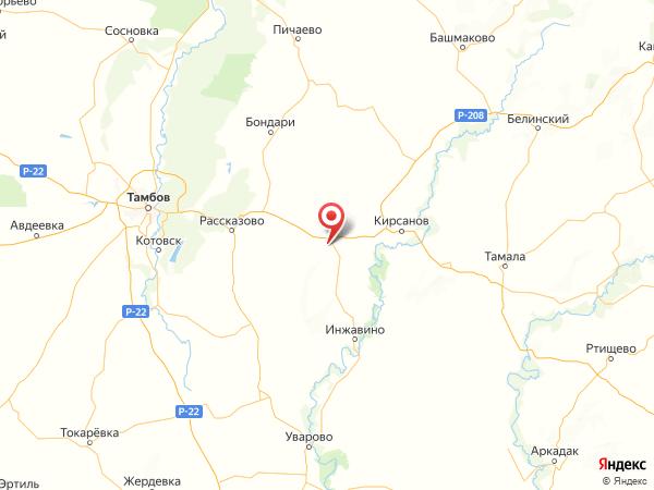 поселок Веселовка на карте