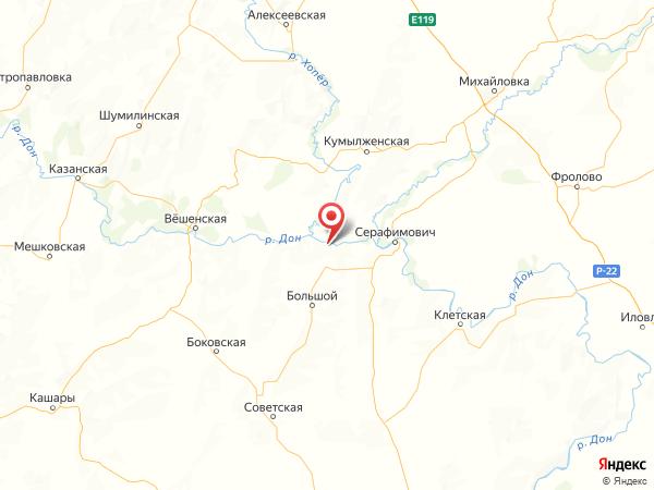 станица Усть-Хопёрская на карте