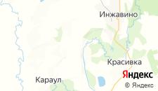 Отели города Карандеевка на карте