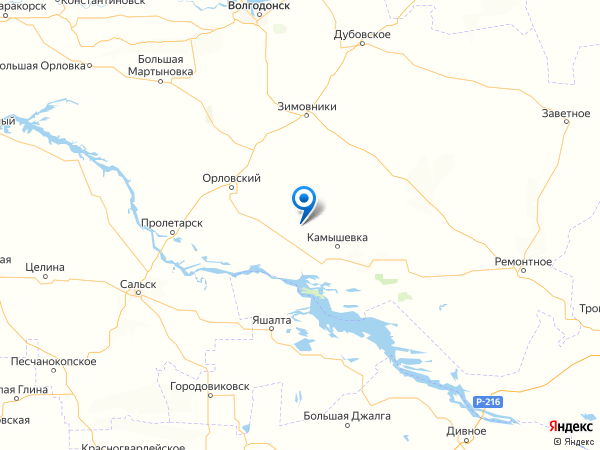 хутор Черкесский на карте