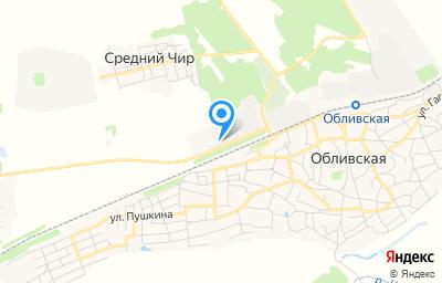 Местоположение на карте пункта техосмотра по адресу Ростовская обл, ст-ца Обливская, ул Калиманова, д 6