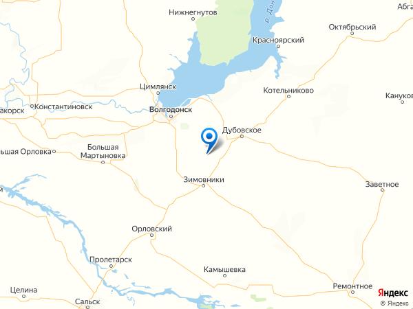 хутор Донецкий на карте