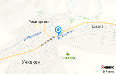 Местоположение на карте пункта техосмотра по адресу Респ Карачаево-Черкесская, с Учкекен, ул Ленина, д 3И