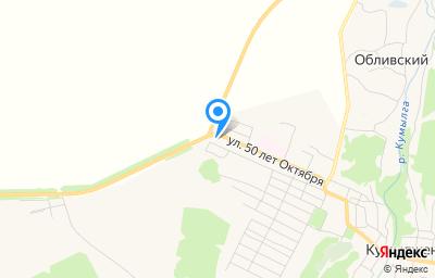 Местоположение на карте пункта техосмотра по адресу Волгоградская обл, ст-ца Кумылженская, ул 50 лет Октября, д 83Б