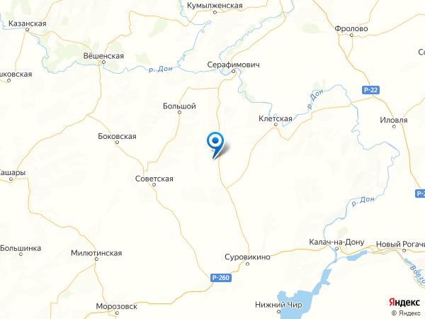 хутор Перелазовский на карте