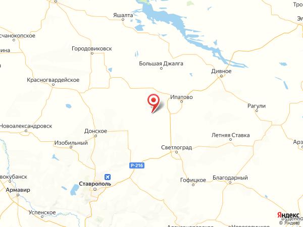 село Родники на карте