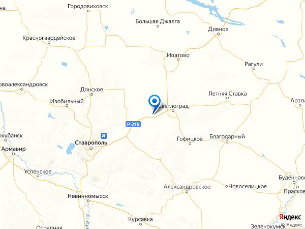 село Константиновское на карте
