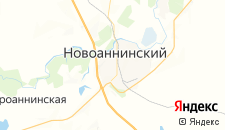 Отели города Новоаннинский на карте