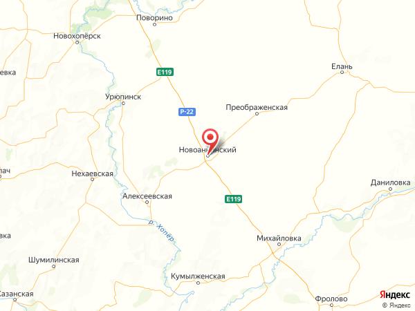 Новоаннинский на карте
