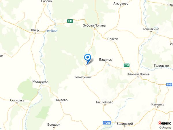 село Красная Дубрава на карте