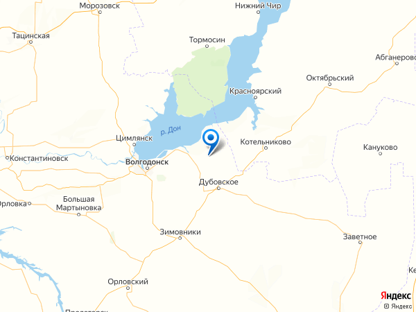 хутор Минаев на карте