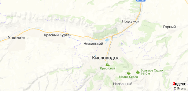 Нежинский на карте