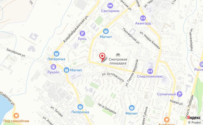 Карта расположения пункта доставки Халва в городе Кисловодск